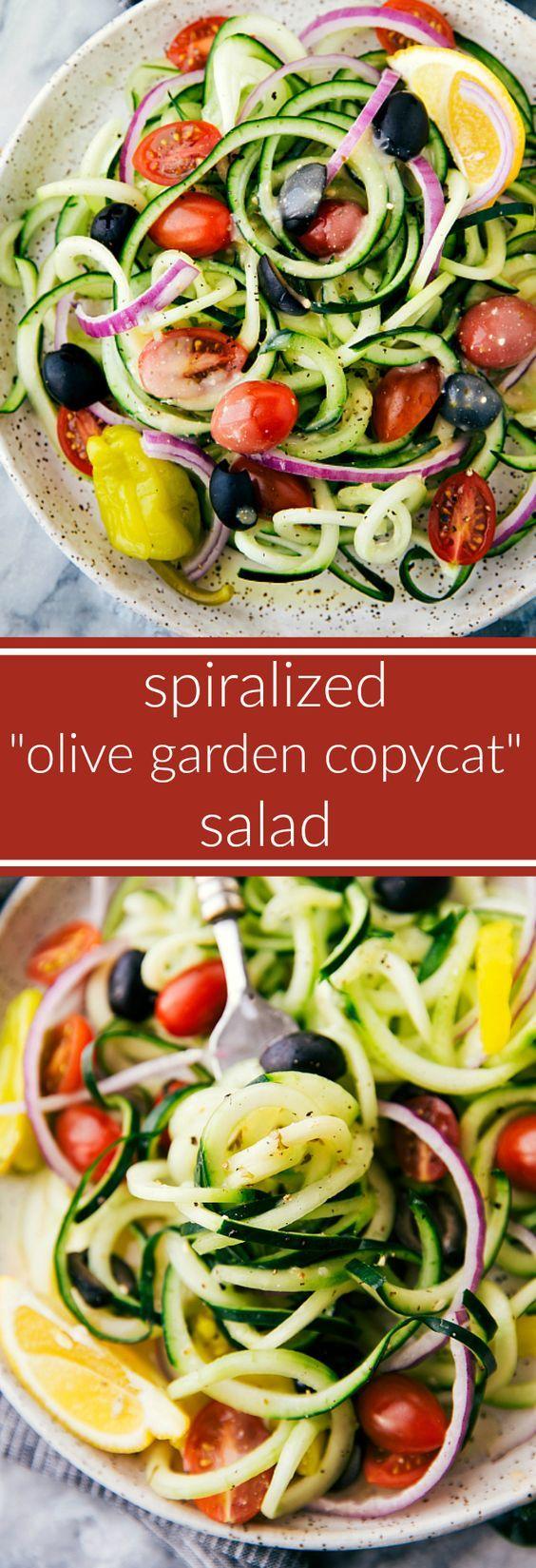 A super simple cucumber salad with spiralized cucumbers