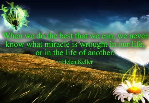 Motivational Quote by Helen Keller with Image !!