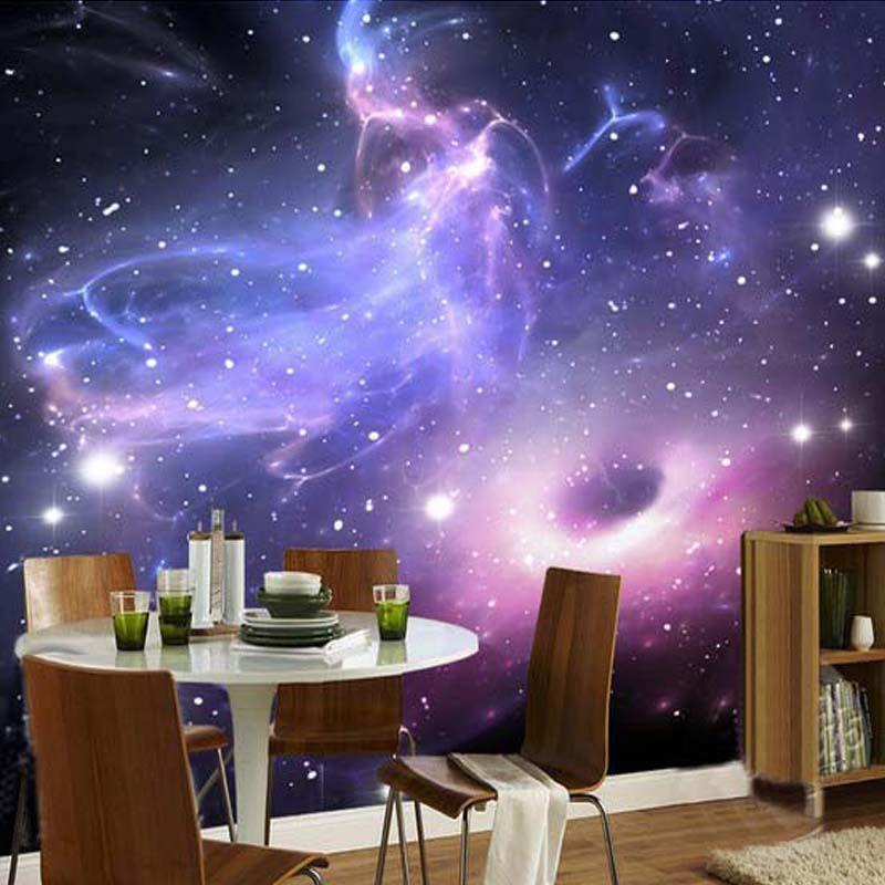 Custom Mural Room Wallpaper European Style Galaxy Cloud Wall Mural  Fluorescent Wallpaper Living Room Sofa Backdrop Home Decor