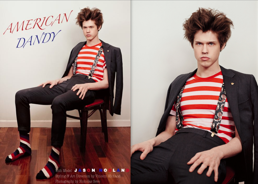 """""""American Dandy"""" Jason Nodland in Billy Reid for Skeleton Mode. Photographed by Nicholas Sève. Creative, Fashion, Photo, Art Direction & Styling by Vinny Michaud. Editorial Mens Fashion by Stylist Vincent Michaud. http://www.vincentmichaud.vision/editorialstyle/"""