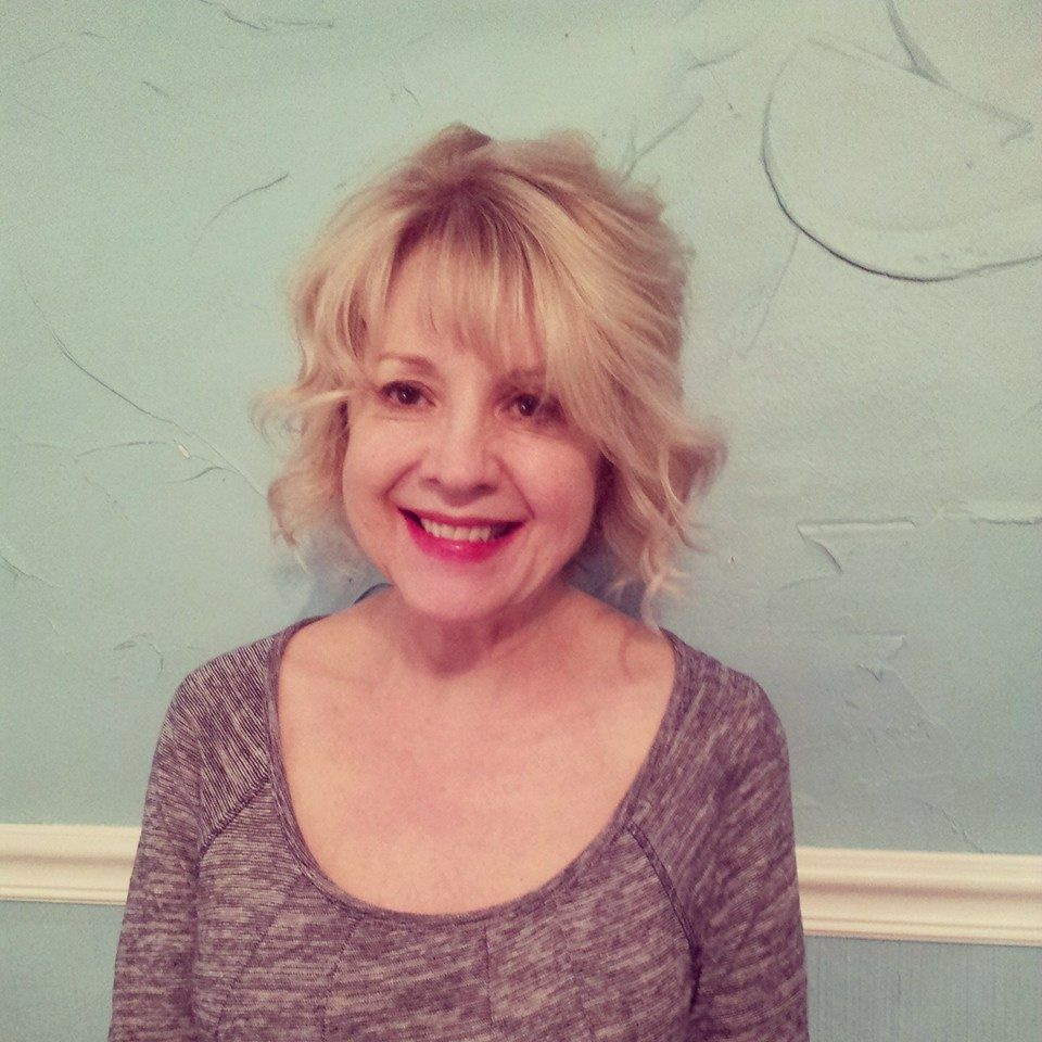 """blondes do it best"" says fabulous esthetician jane...@ ola salon... after getting her new soft platinum blonde new look!"