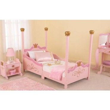 The KidKraft Princess Toddler Bed Will Look Great In Your Princess
