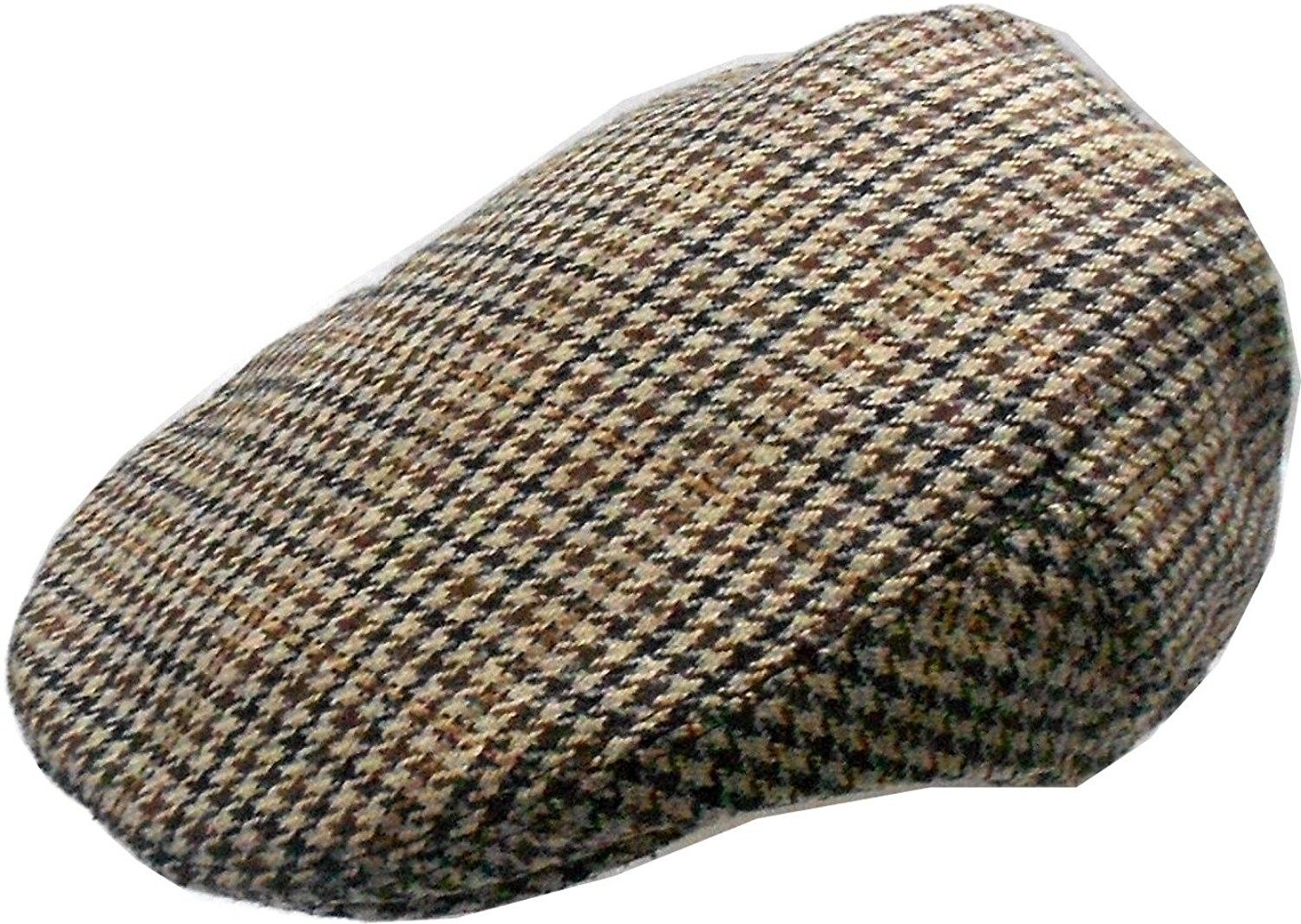 42d11a0b7e4 Mens Wool Blend Houndstooth Ivy Golf Driver Hat Irish Hunting Gatsby ...