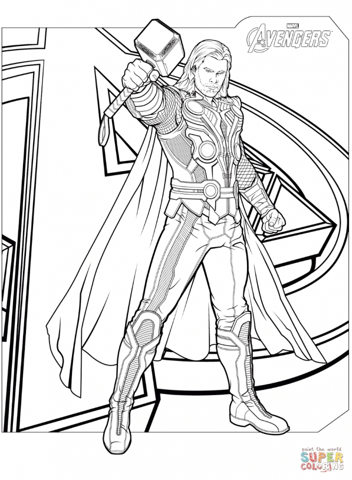 Get This Avengers Coloring Pages Thor 07593 Avengers Coloring Pages Superhero Coloring Avengers Coloring