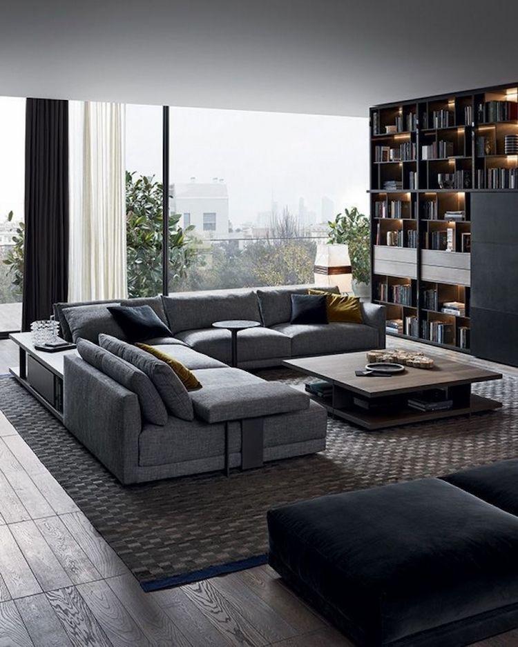 salon moderne domin par les couleurs neutres comment a marche - Salon Moderne Entissu