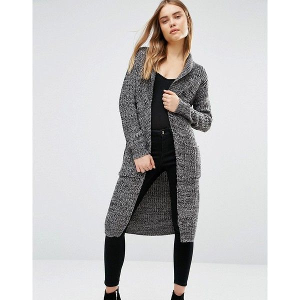 QED London Chunky Longline Cardigan ($33) ❤ liked on Polyvore ...