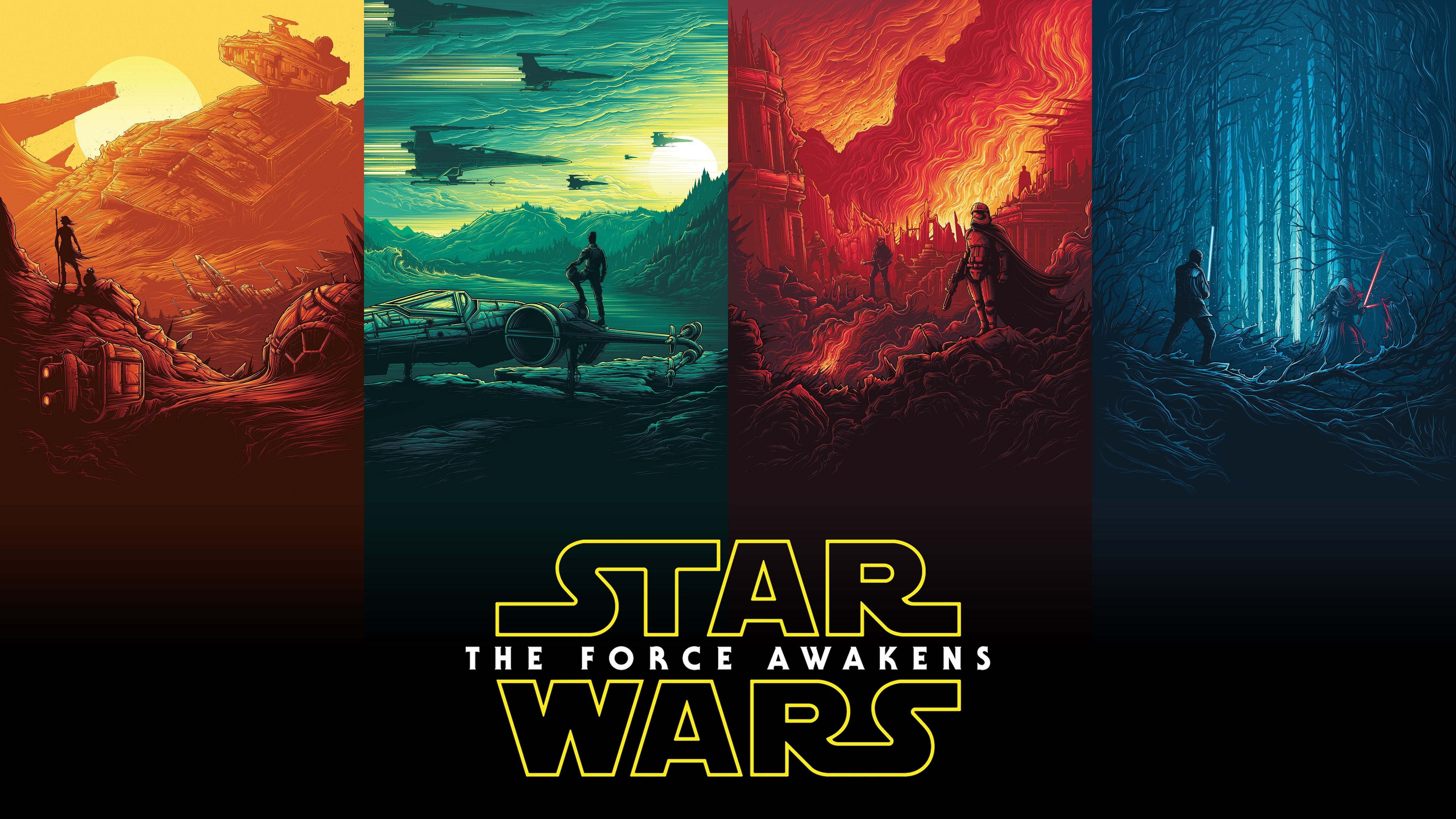 This Amazing 5k Star Wars The Force Awakens Wallpaper With