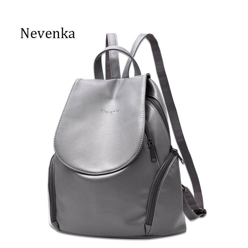 18.00$  Buy here - http://aliilx.shopchina.info/1/go.php?t=32797344763 - Nevenka New Arrival Women Backpack Lady Backpacks PU Leather Bag Fresh Sac Zipper Bags Casual Shoulder Bag Teenagers Mochila  #buyonline