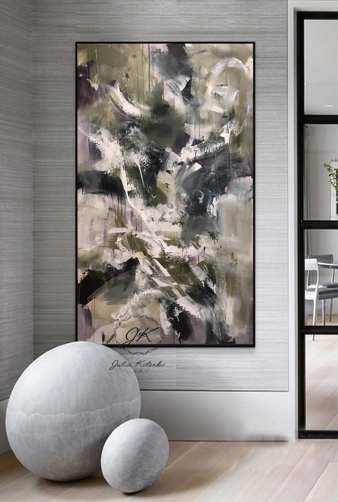 Extra Large Wall Art Dark Abstract Painting Pallet Knife Etsy Large Wall Art Cheap Extra Large Wall Art Cheap Wall Art