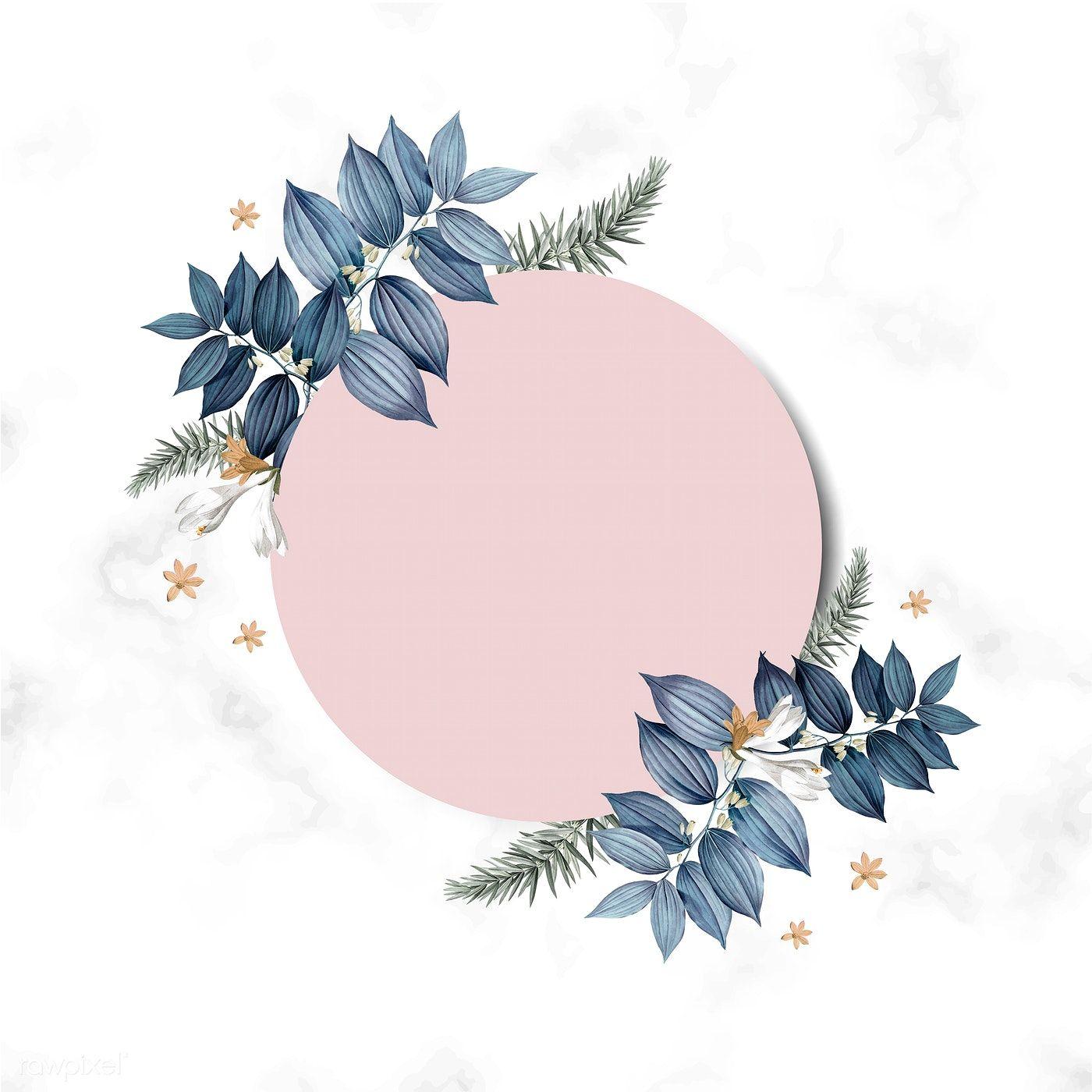 Download Premium Vector Of Empty Floral Invitation Card Design Vector Floral Invitation Invitation Card Design Card Design