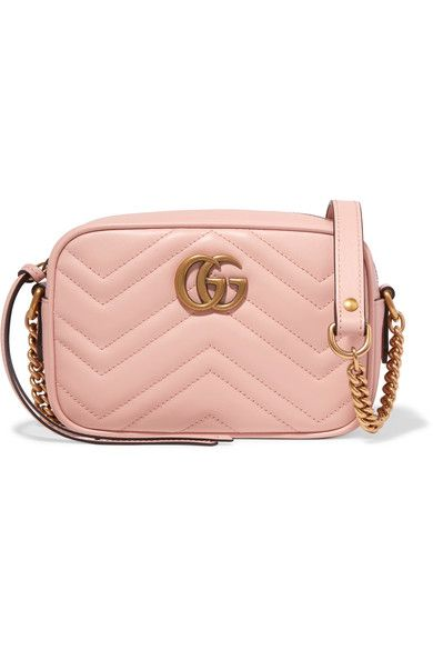 f3c9451ff6df04 Gucci - Gg Marmont Camera Mini Quilted Leather Shoulder Bag - Baby pink