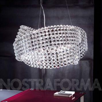 Nydelige lysekrona fra Marchetti som hadde passa ypperlig te spisebordet vårt :)