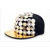 Cool Colorful Hand Sewing Rivets Hip Hop Hat