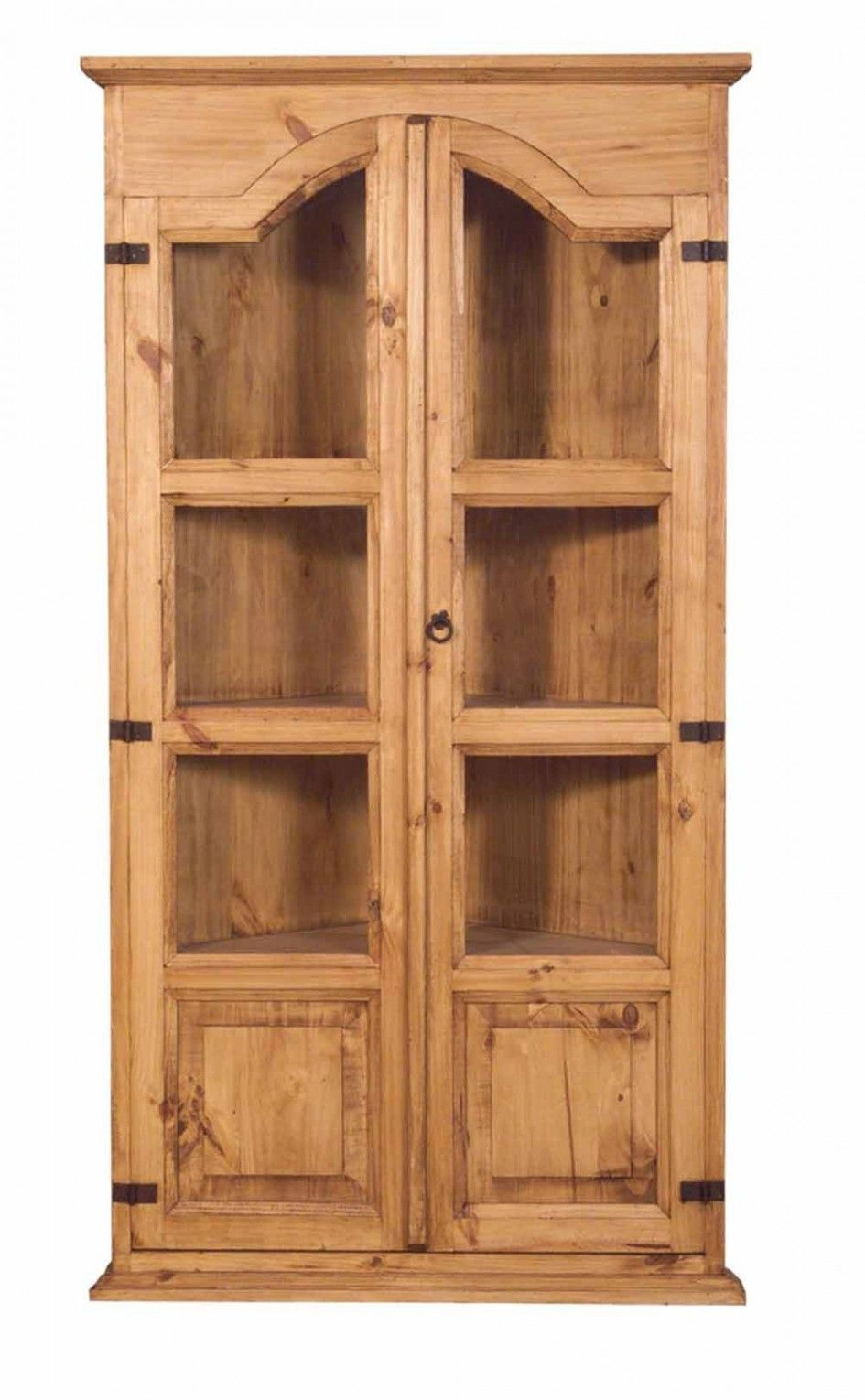 Attractive Amazing Unfinished Corner Curio Cabinet With Cabinet Door Ring .