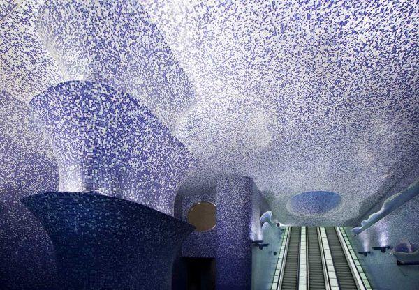 Moderne Deckenverkleidung-Mosaikfliesen lila Bad Pinterest - moderne wandgestaltung wohnzimmer lila
