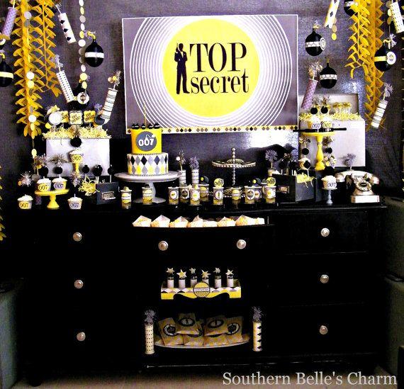 Spy Party Decor And Food Ideas For A Mission Impossible Event