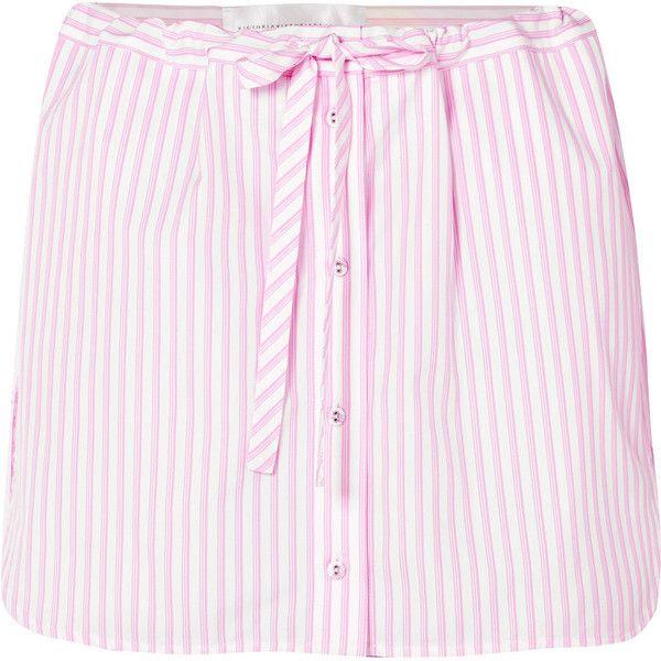 Layered Striped Cotton Shorts - Pink Victoria Beckham RMVcJK