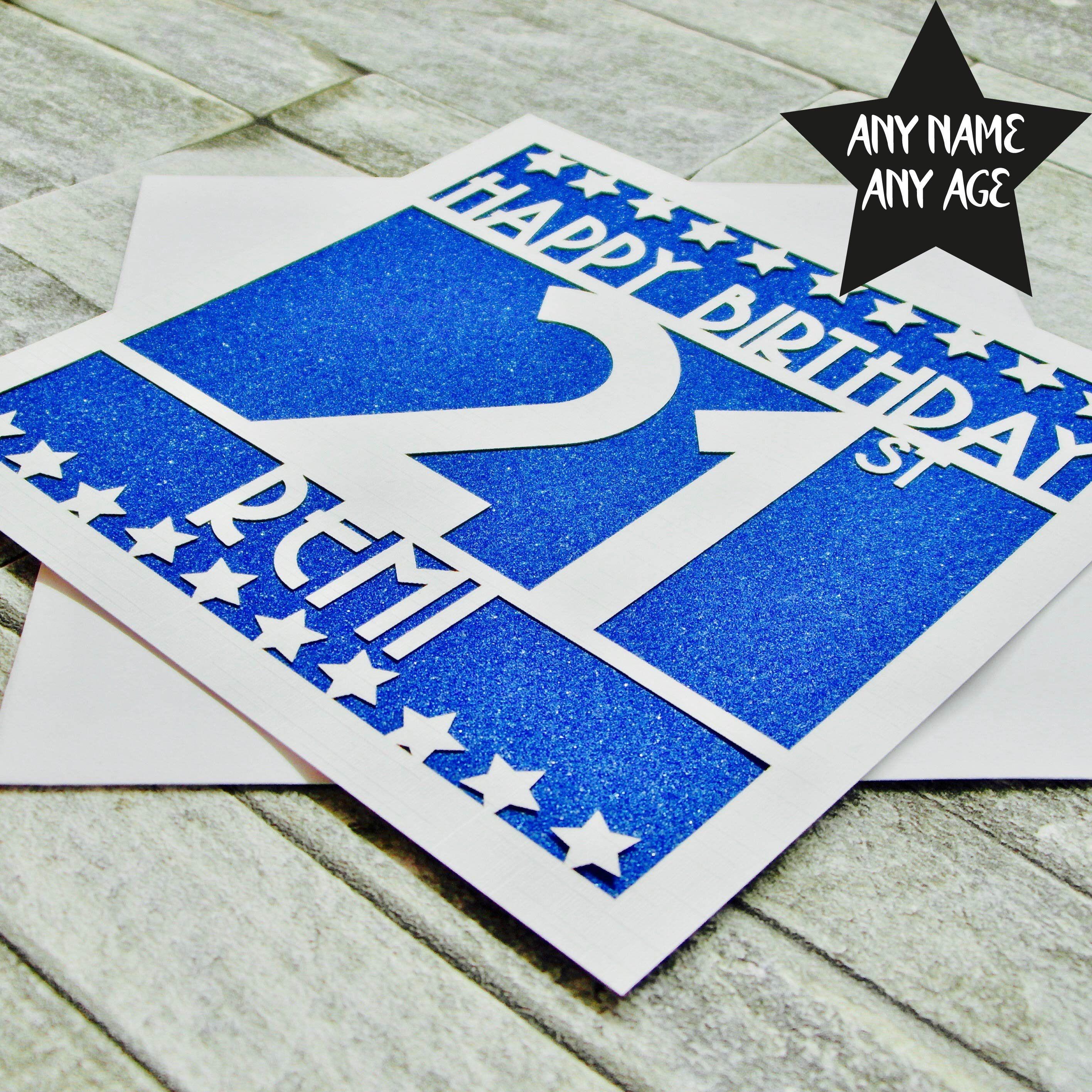 Personalised 21st Birthday Card 21st Birthday Card Etsy 21st Birthday Cards Birthday Cards 21st Birthday