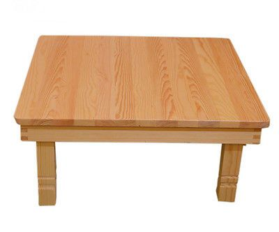 Square Modern Korean Folding Table Natural Finish Floor Tea Table
