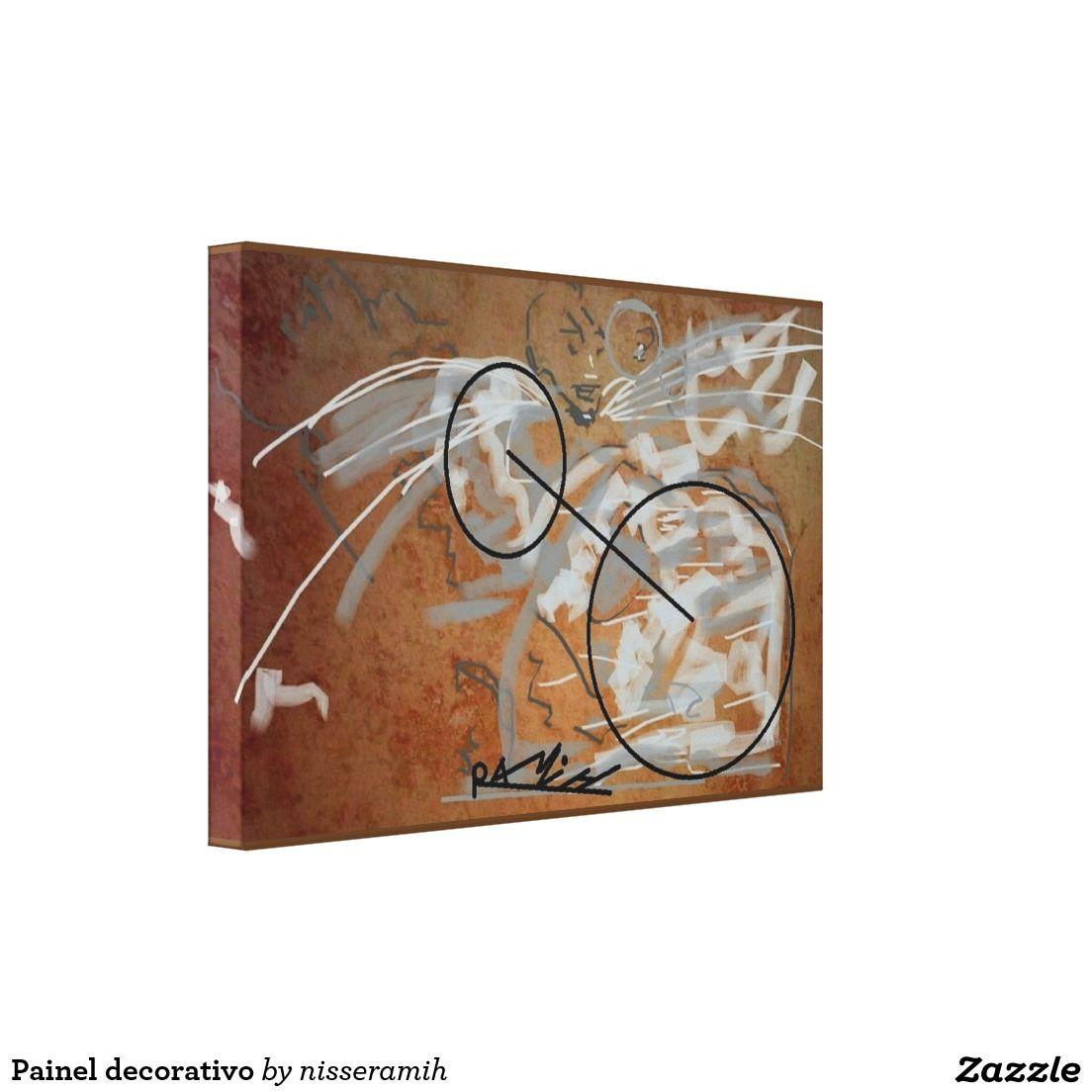 Painel decorativo impressão em tela