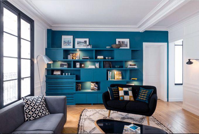 Wohnzimmer blau weis  Wandfarbe Wohnzimmer Blau Weiß   DIY Home Ideas   Pinterest ...
