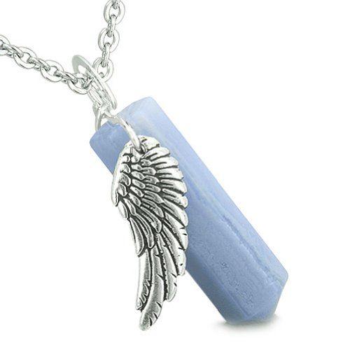 Archangel Uriel Sigil Amulet Magic Powers Angel Wing Charm Green Quartz Pendant 22 Inch Necklace
