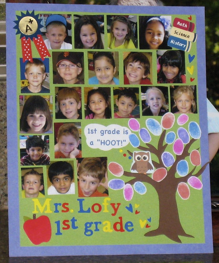 Classroom Yearbook Ideas ~ Completed yearbook page for my daughter s st grade class