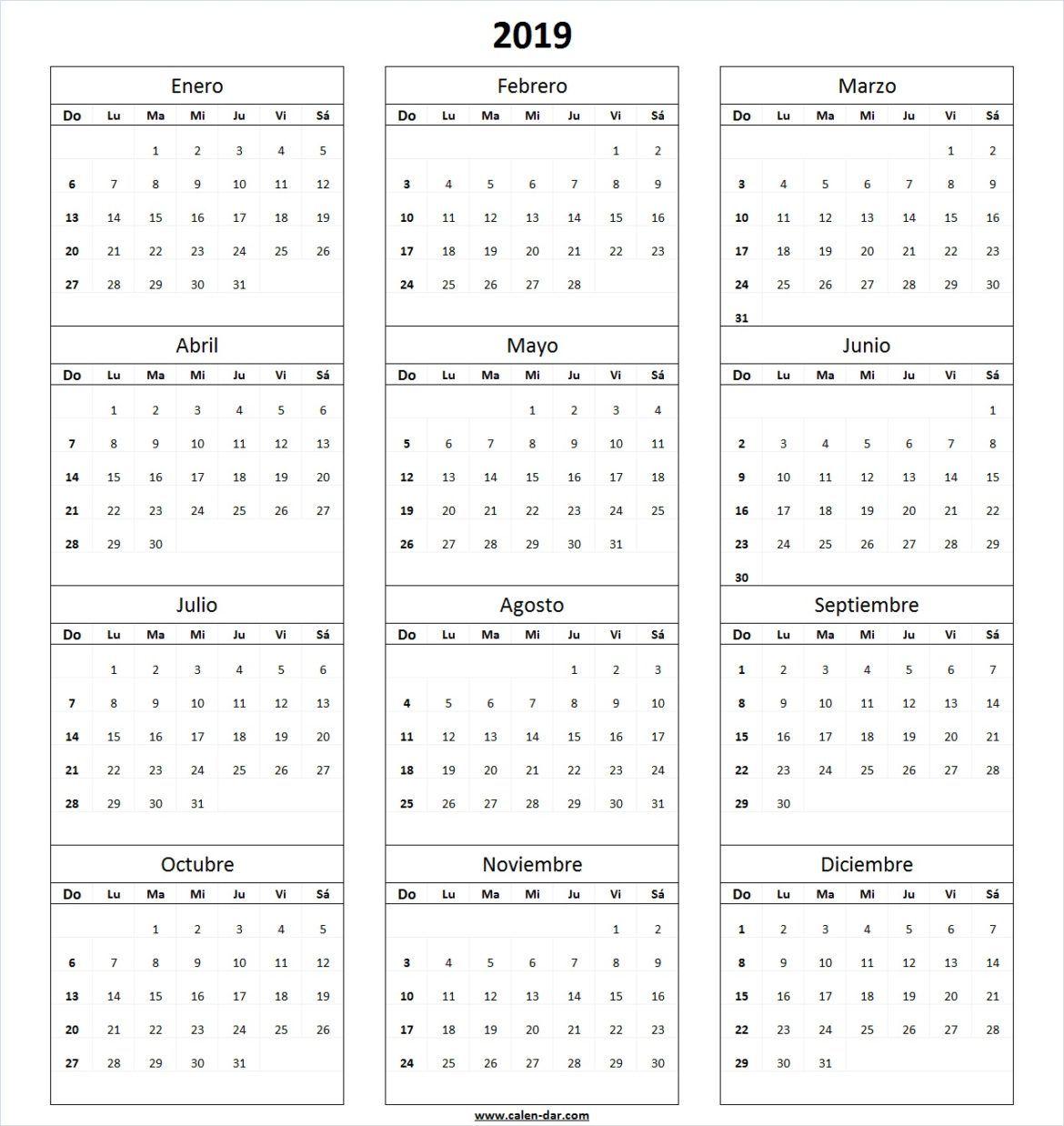 Calendario Marzo 2020 Argentina Para Imprimir.Calendario 2019 Mas De 150 Plantillas Para Imprimir Y