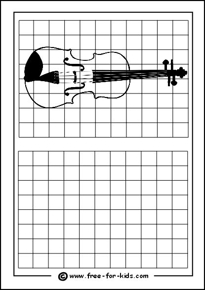 Practice Drawing Grid With Violin