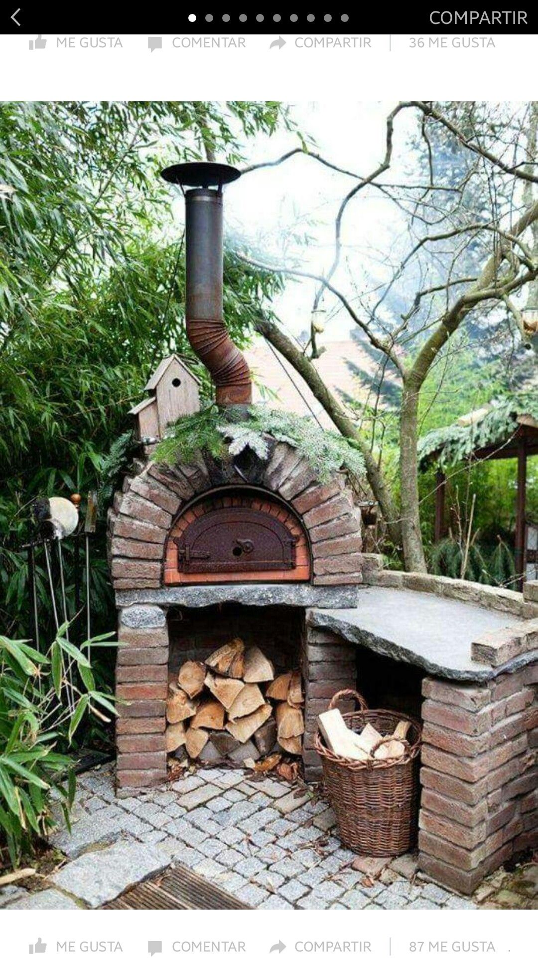 I think this is a pizza oven | Outdoor Spaces | Pinterest ...
