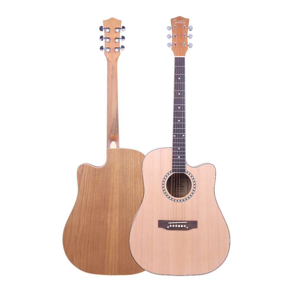 Glarry Gt603 41 Inch Dreadnought Spruce Front Cutaway Manchurian Ash Back Folk Acoustic Guitar Natural Glarrymusic Guitar Acoustic Guitar Acoustic