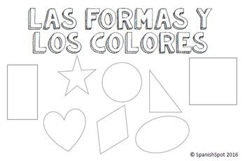 No folding or paper arranging!!! Booklet- Las formas y los