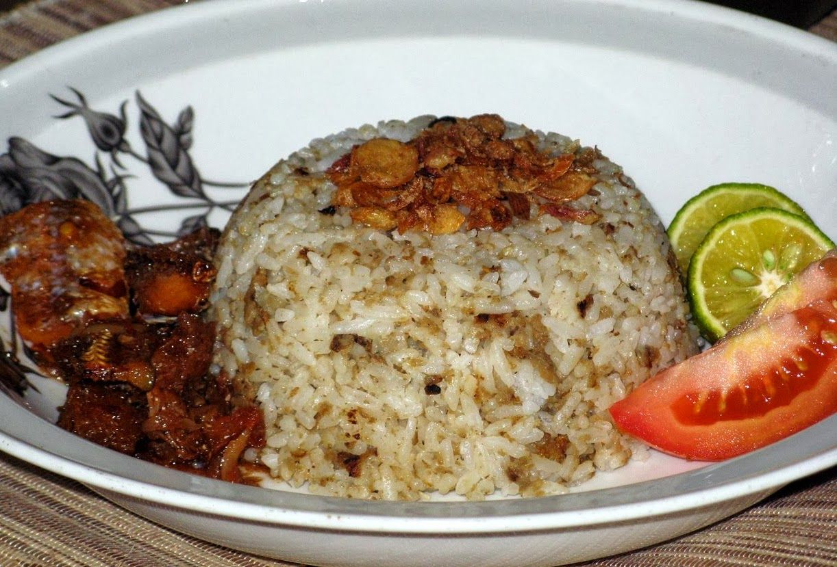 Tradisional Indonesia Makanan Utama Jajanan Sehat Nasi