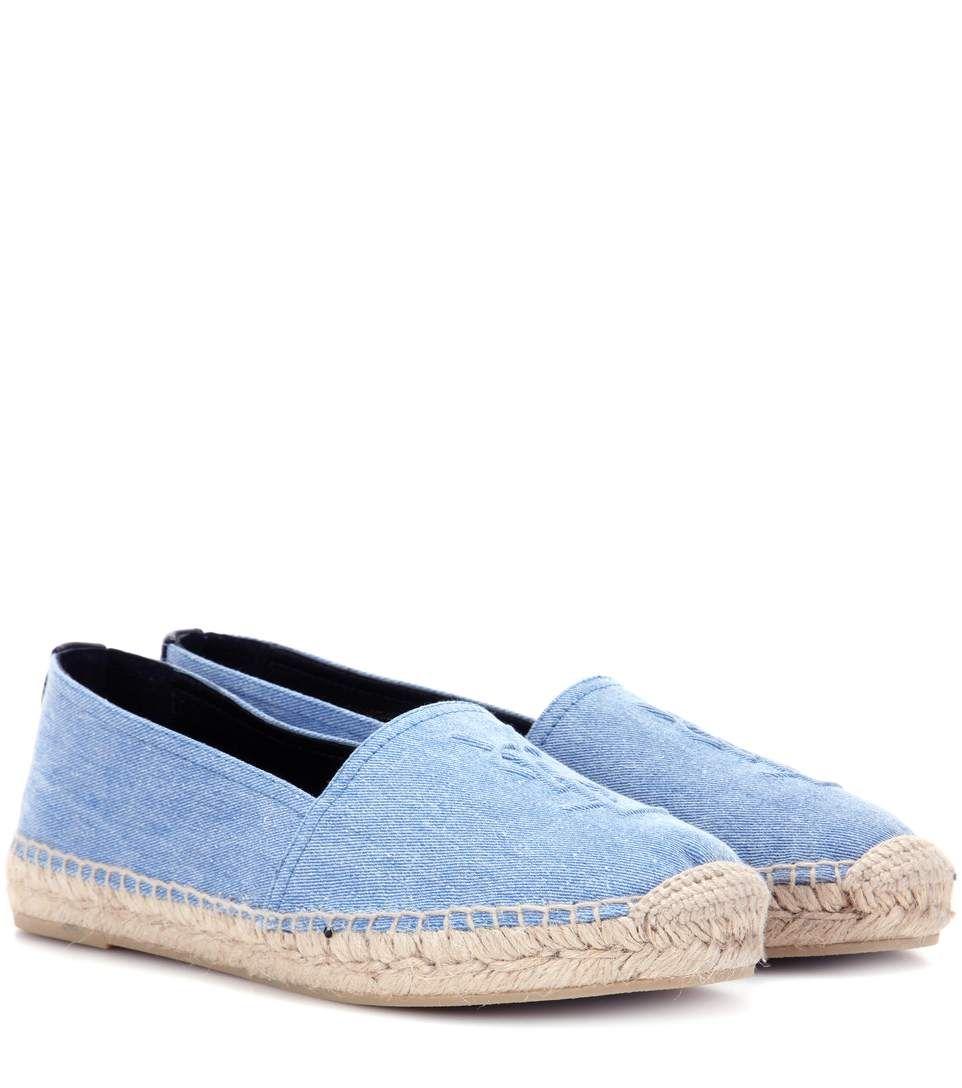 mytheresa.com - Monogram denim espadrilles - Luxury Fashion for Women / Designer clothing, shoes, bags