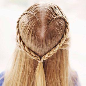peinado con trenza para nia