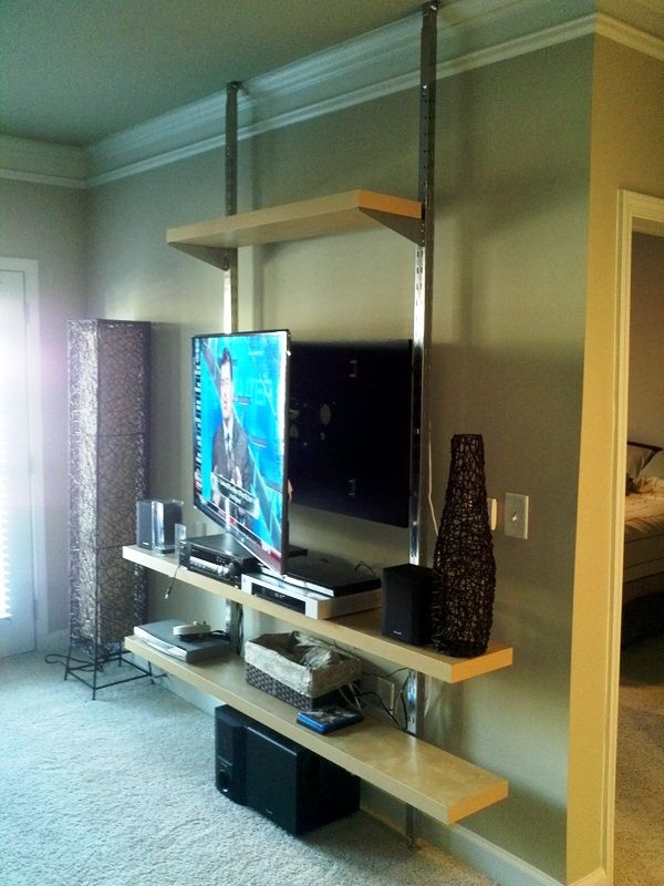 Wall Hanging Entertainment Center how to create a floor-to-ceiling tv entertainment center | tv