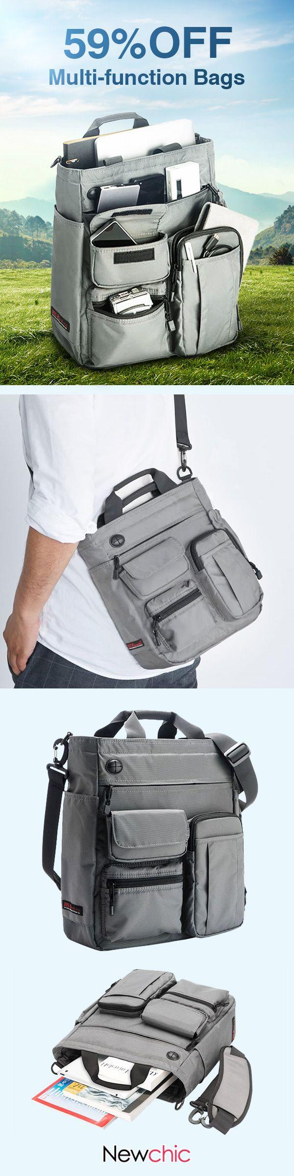 8f2a873a2d Mens Nylon Waterproof Large Capacity Crossbody Bag  Multi-function Business  Computer Handbag travel  business