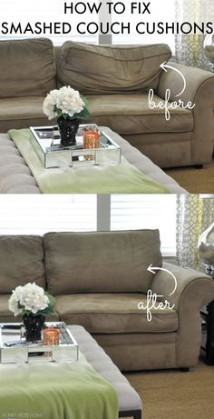 How To Fix Smashed Couch Cushions Couch Cushions Couch