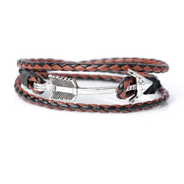 Independent Niuyitid Black Braided Leather Bracelet For Women Vintage Accessories Men Male Charm Strand Bracelets Bracelets & Bangles