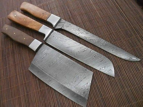 Kitchen Knives For Sale Hats Staff Custom Made Damascus Set Chef Pinterest