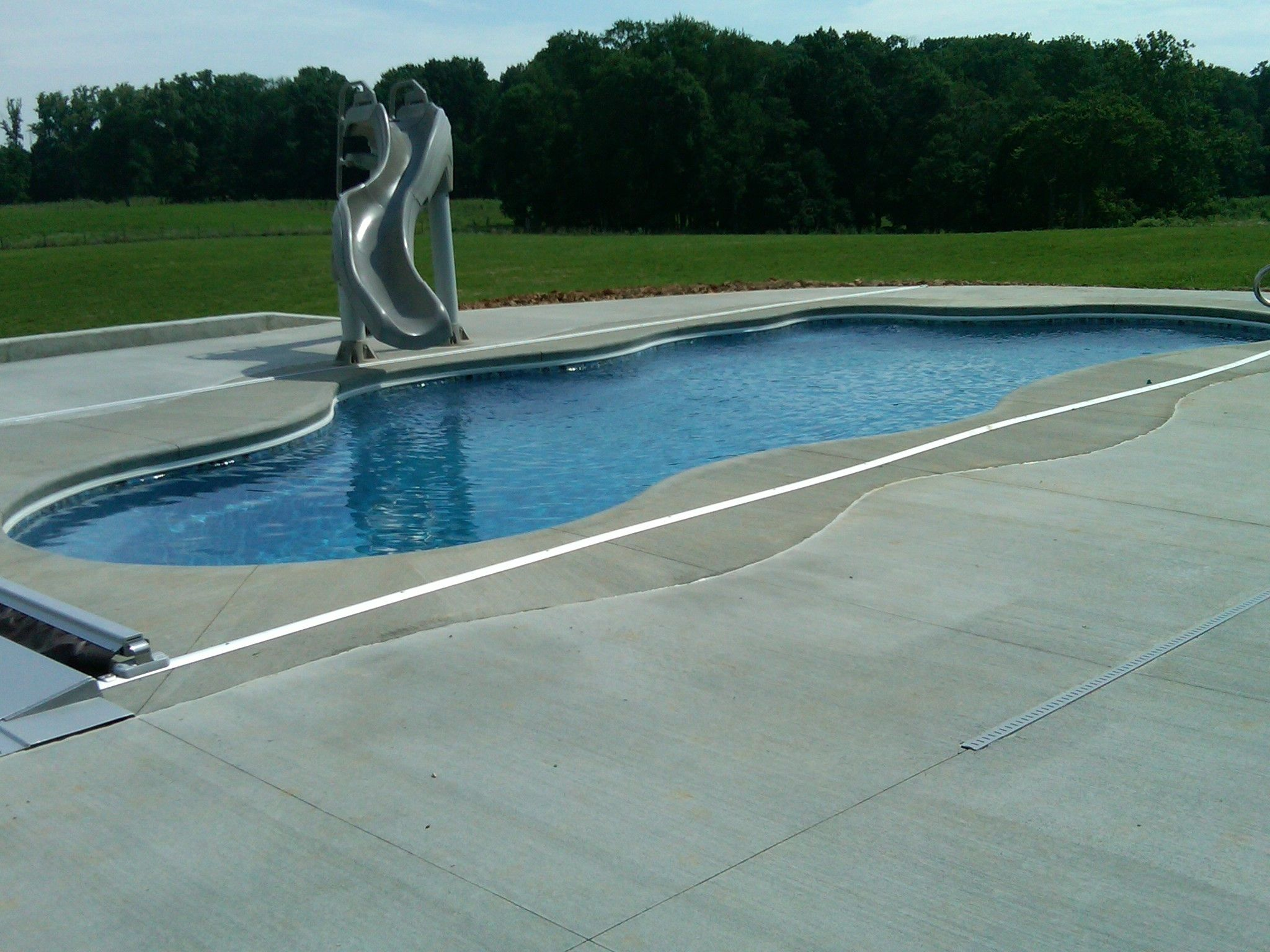 Fiberglass Swimming Pool Paint Color Finish Pacific Blue 7 Calm