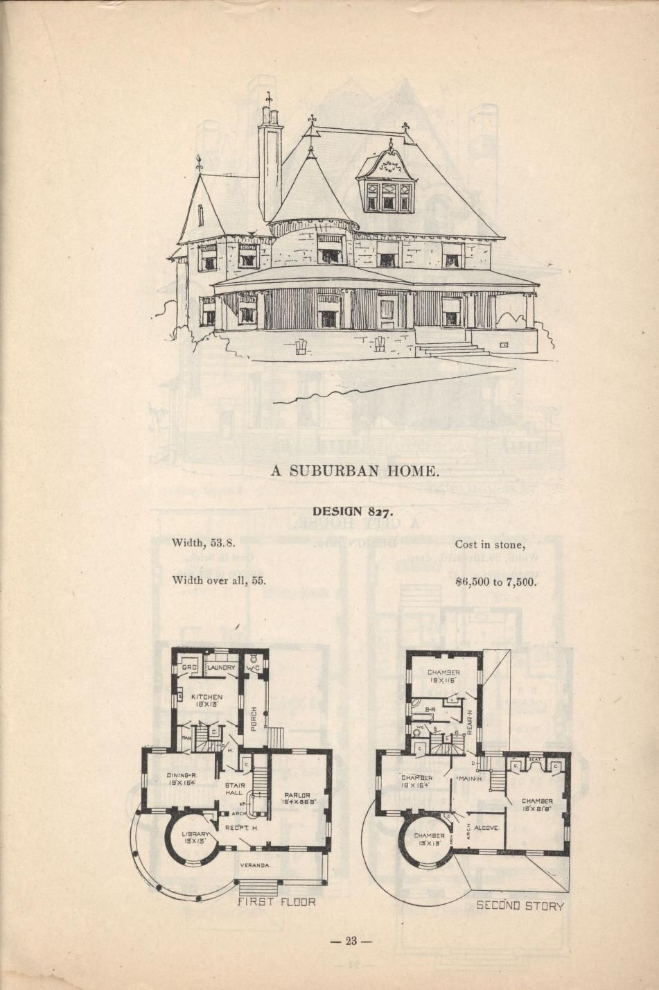 Artistic City Houses No 43 House Plans With Pictures Vintage House Plans Best House Plans