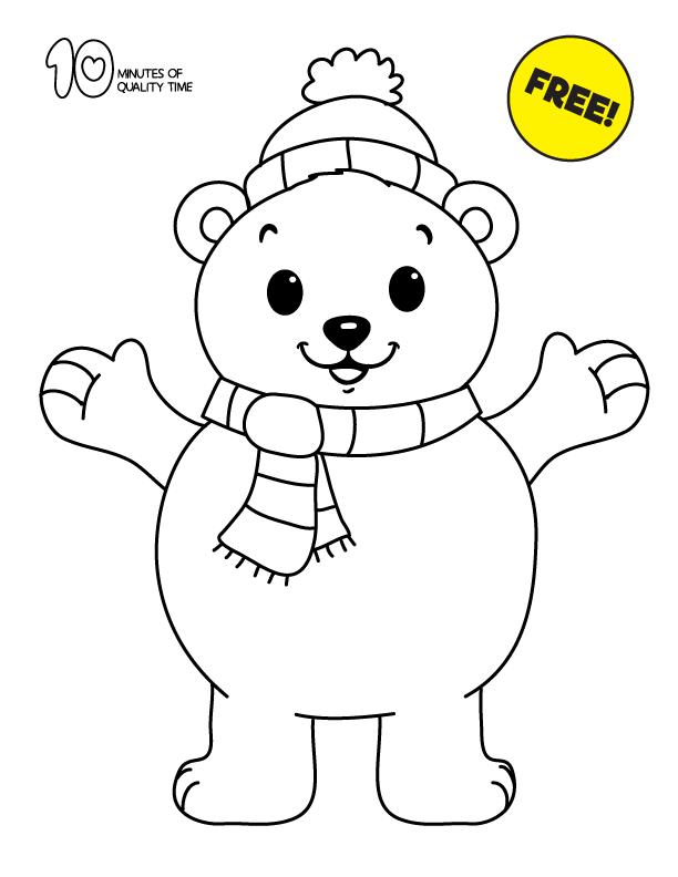 Polar Bear Coloring Page Polar Bear Coloring Page Bear Coloring Pages Coloring Pages