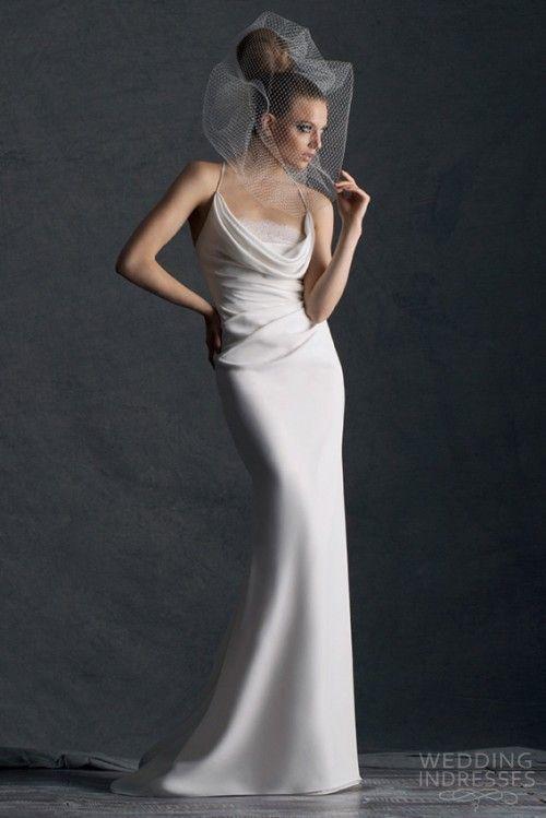 cymbeline paris 2014 hermione wedding dress cowl neck