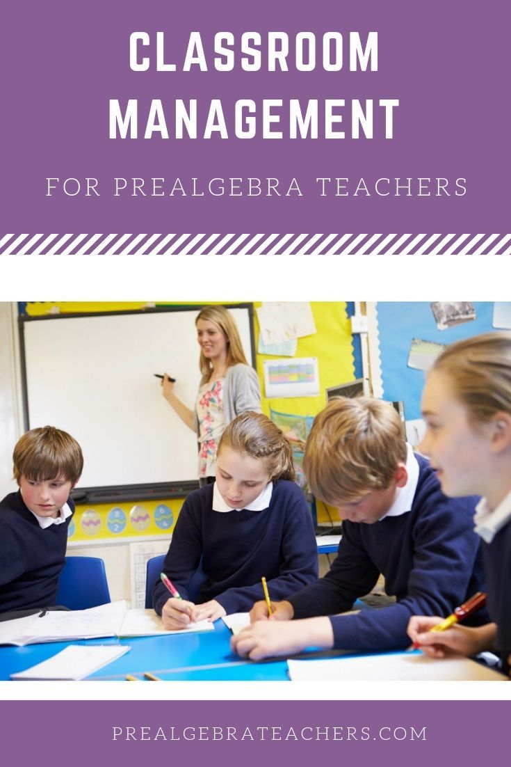 If you teach 7th grade middle school math and need help with classroom management, check out these