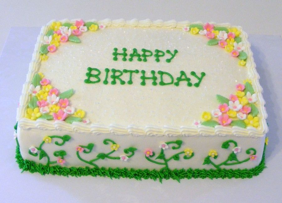 Outstanding Spring Birthday Cake With Images Floral Cake Birthday Simple Funny Birthday Cards Online Alyptdamsfinfo