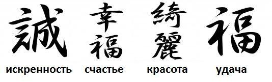 картинки иероглифы китайские и их значение