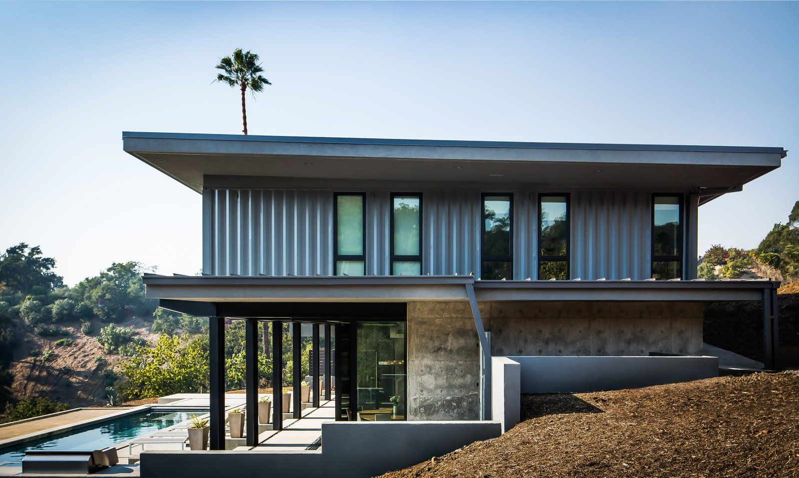 Five shipping containers are woven into this home in santa