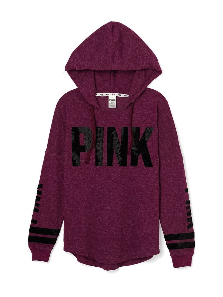 cf3dc43208084 Bling Varsity Hoodie - PINK - Victoria's Secret | fashion in 2019 ...