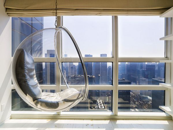 Строгий модернизм и яркие краски на 61 этаже небоскреба